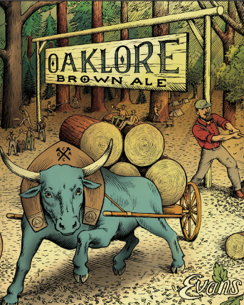 Logo of Evans Brewing Co. - Oaklore