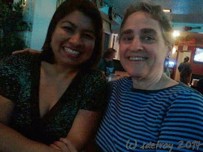 Photo: Two friends I appreciate, Yoly and Kathy L. We are at Vets Club for music, dancing, beverages and food.