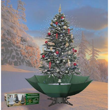 Snöande julgran, grön