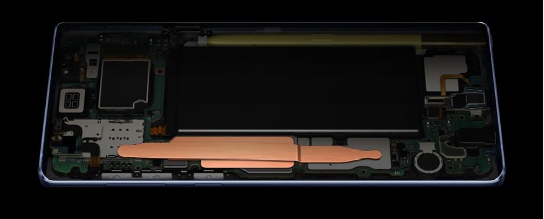 Galaxy Note 9の冷却システム