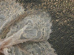 Photo: Ткань: Жаккард ш.140см.цена4500руб.          Коллекция Armani                              Кружево шантильи с золотым кордом (Solstiss)ш.135см.цена6000руб.
