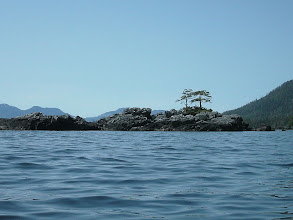 Photo: A rocky islet in Clarence Strait.