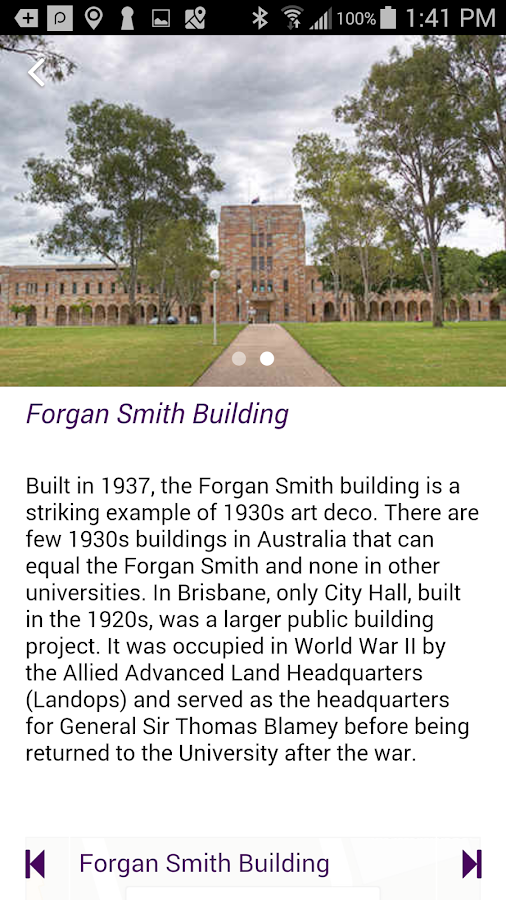 UQ Walking Tour- screenshot