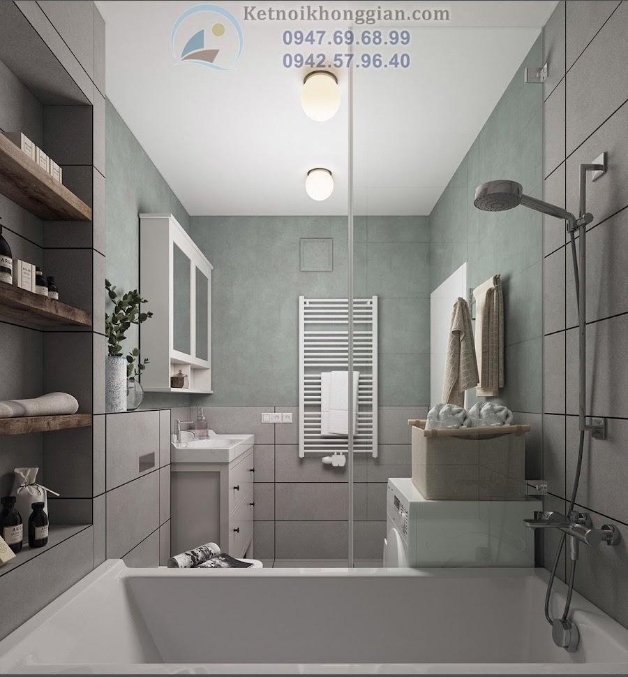 thiết kế phòng tắm rộng rãi