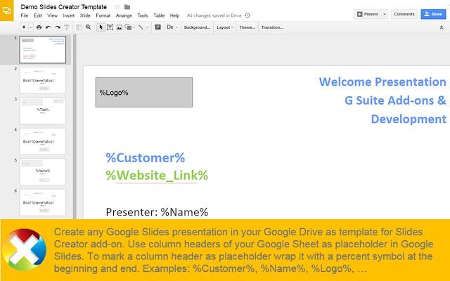 slides creator google sheets add on