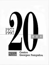 Photo: Centre Georges Pompidou,1997, logo, affiche et couverture de l'album du 20e anniversaire