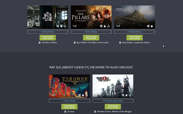 Humble Bundle Steam Tool
