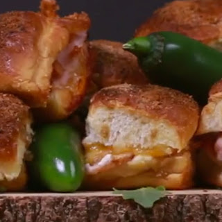 The Ideal Spicy Snack? Jalapeno Popper Baked Turkey Sandwiches!