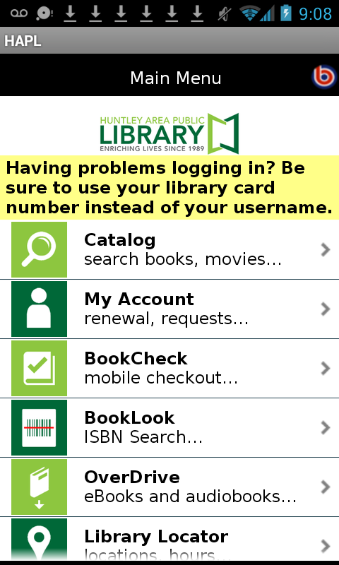 Huntley Area Public Library- screenshot