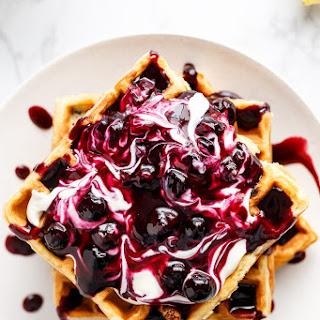 Blueberry Lemon Cheesecake Waffles