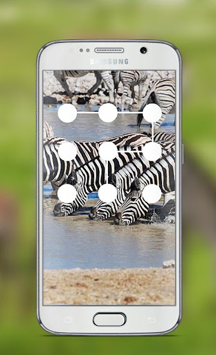 Zebra Pattern Lock Screen