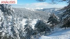 La sierra libera poco a poco la nieve y proporciona millones de metros cúbicos de agua
