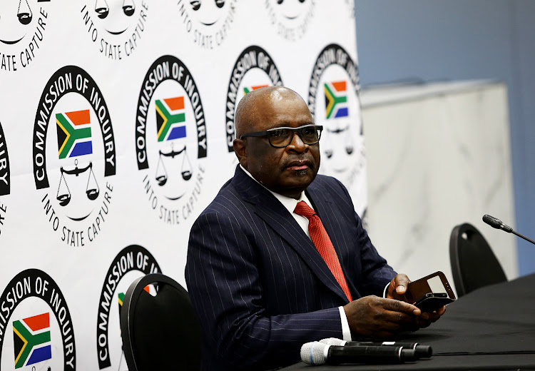 Former mineral resources minister Ngoako Ramatlhodi at the Zondo commission. Picture: MASI LOSI