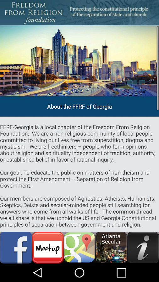 FFRF of Georgia- screenshot
