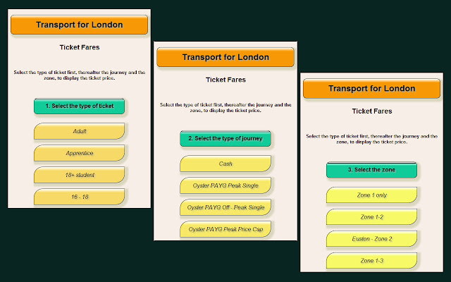 Transport for London 2014 Ticket Fares