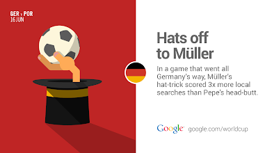 Photo: 3 is the magic number. Thomas Müller #GER's hero of the day! #GoogleTrends #GermanyVsPortugal http://goo.gl/h651YU