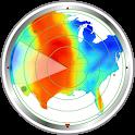 Weather radar map: waves, rain & hurricane tracker icon