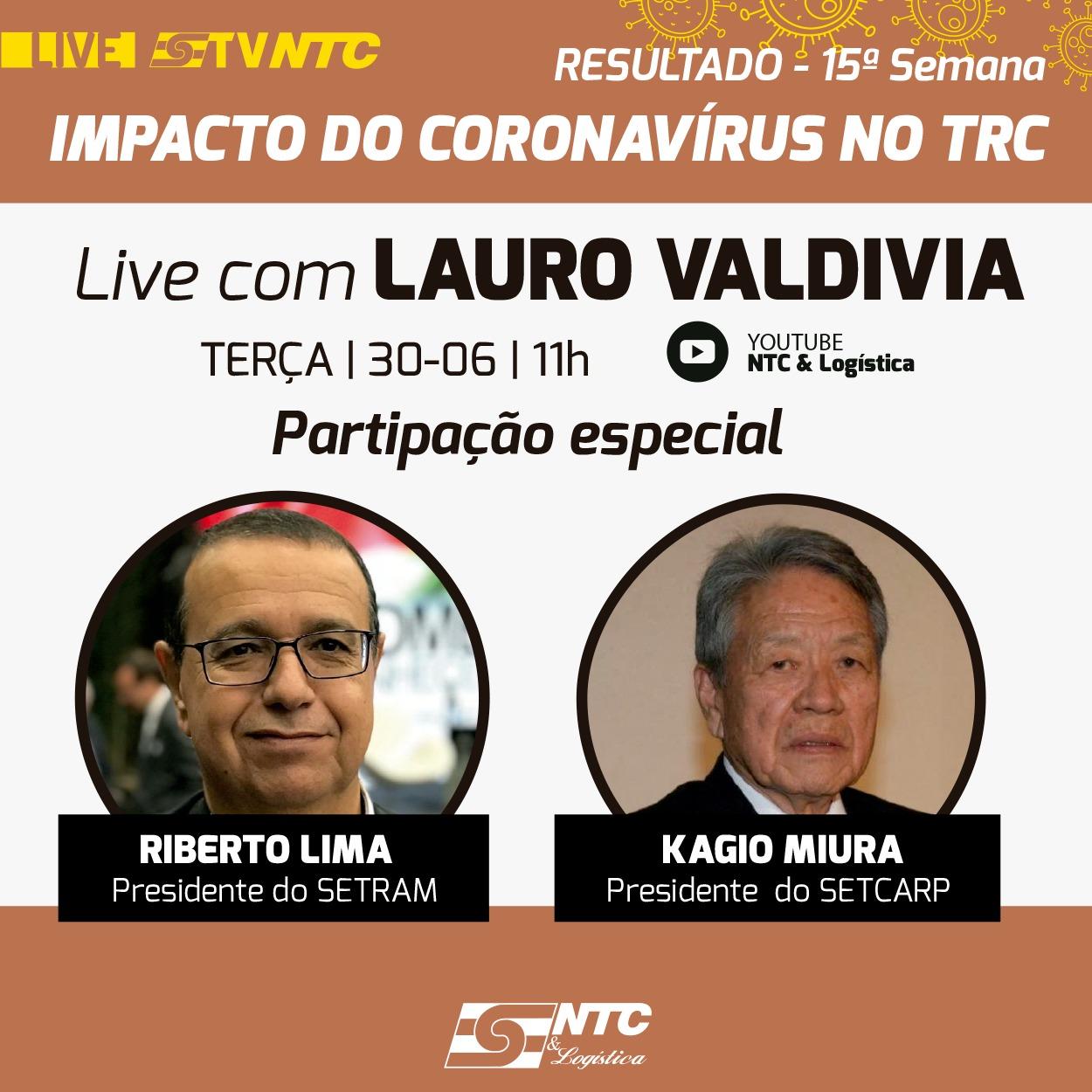 TV NTC apresenta hoje o resultado da décima quinta semana de acompanhamento do impacto da pandemia no TRC