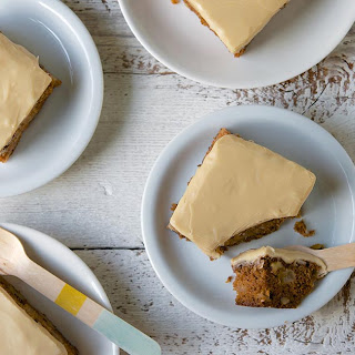 Old-Fashioned Apple Cake with Brown Sugar Frosting.