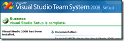 Microsoft Visual Studio Team System 2008 Setup