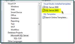 SQL Server 2005 project