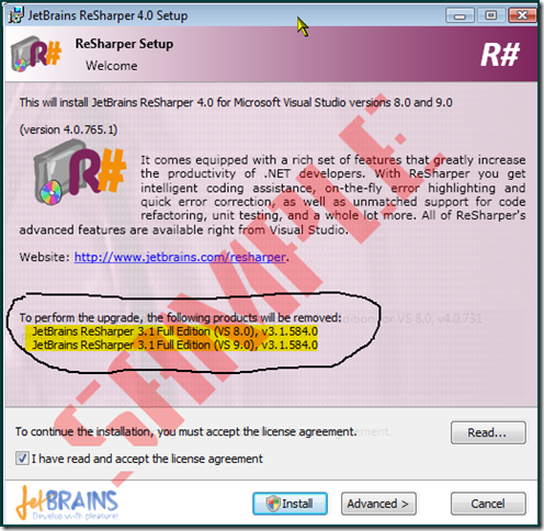 BizTalk Patterns: ReSharper 4 0 upgrade