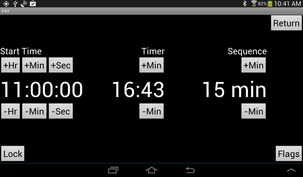start a timer for 15 minutes