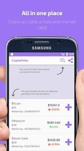 CryptoFolio - Bitcoin, ethereum & Portfolio- screenshot thumbnail