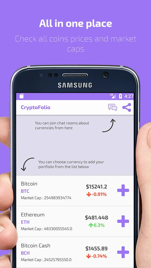 CryptoFolio - Bitcoin, ethereum & Portfolio- screenshot
