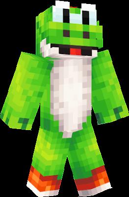 Super Mario Nova Skin - Yoshi skin fur minecraft pe