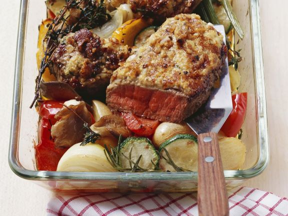 Gourmet Beef with Roast Veg Recipe