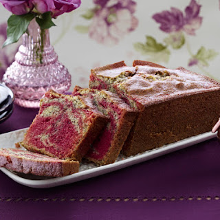 Beet and Poppy Seed Marble Cake