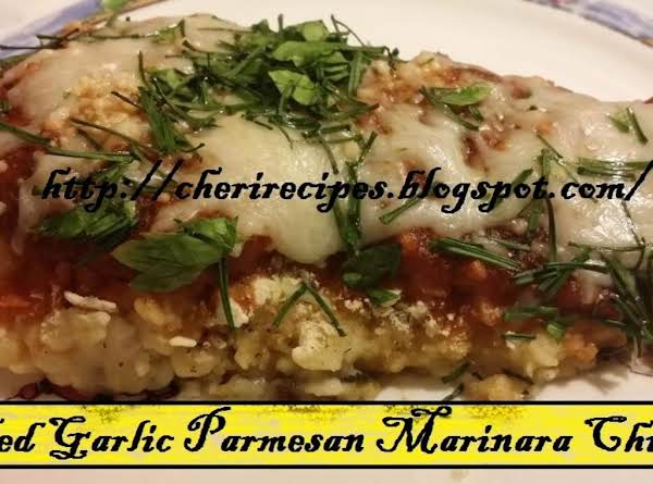 Baked Garlic Parmesan Marinara Chicken Recipe