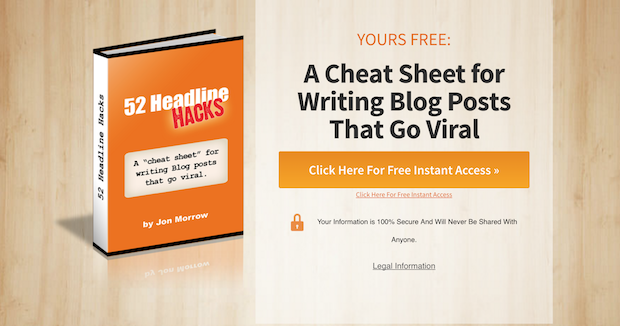 Example of a Cheat Sheet lead magnet from OptinMonster.com