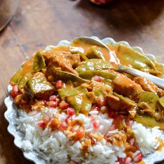 Thai Curry Pomegranate Chicken.