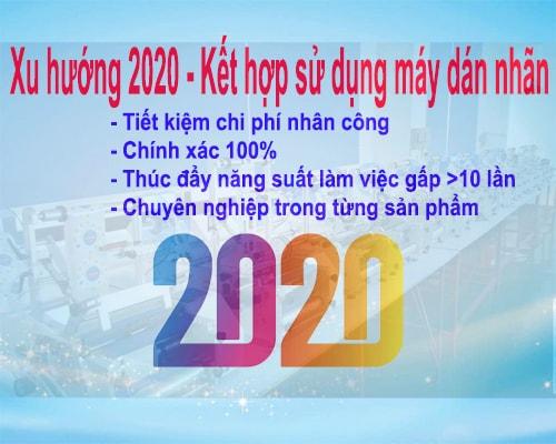 máy dán nhãn chai tròn- xu hướng 2020