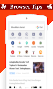 New UC Browser 2018 Free Fast Browser Tips - náhled