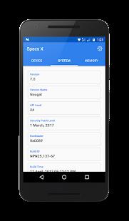 Specs X : Device Specification & Information App - náhled
