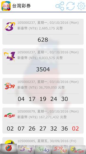 Fast Taiwan Lottery Results screenshot 1