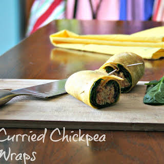 Curried Chickpea Wraps.