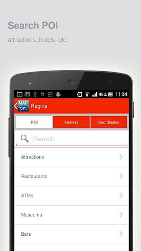 玩旅遊App|Regina Map offline免費|APP試玩