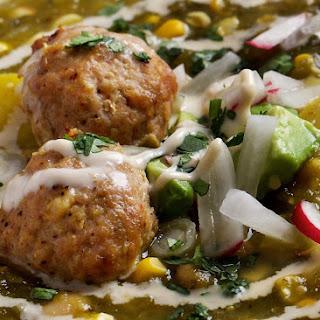 Ancho-Leek Turkey Meatballs