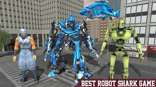Warrior Robot Sharku2013 Shark Robot Transformation apktram screenshots 6