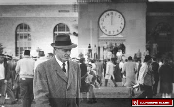Photo: Wilkinson after a 25-21 loss at Nebraska in 1959. It was OU's first conference loss in 74 games and first to Nebraska in 16 years.
