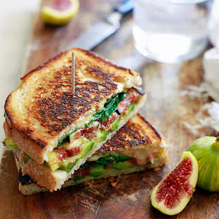 Fresh Fig and Avocado Grilled Cheese.