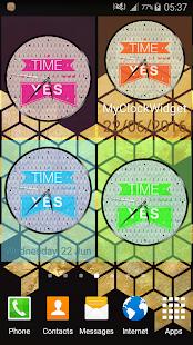 Round Clock Widget - náhled