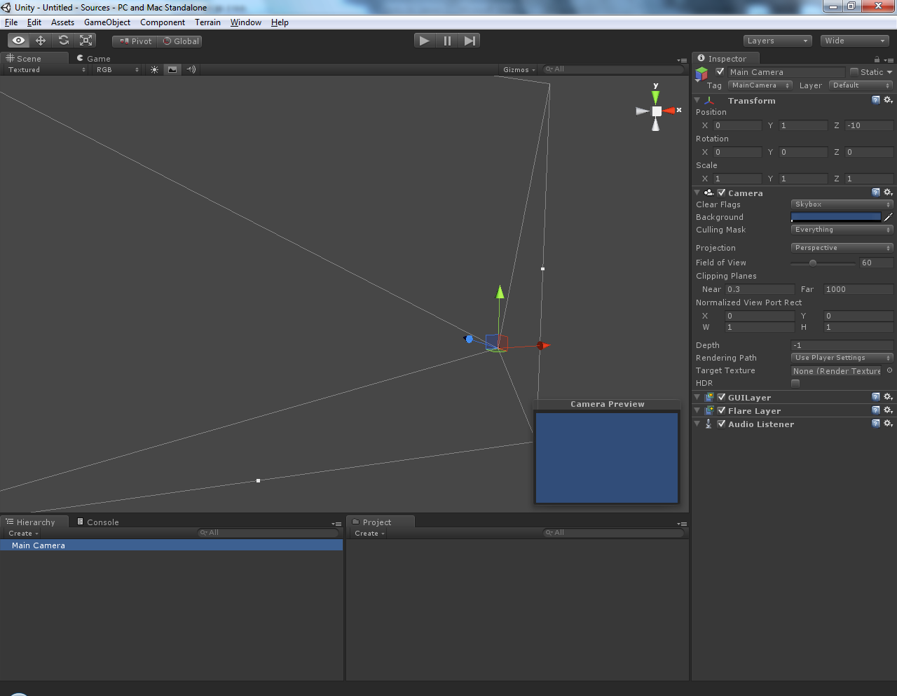 Practical use of Unity3d engine: Task #1: Rotate, pan and zoom