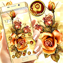 Golden Rose Shiny Flower Launcher Theme 🌻 icon