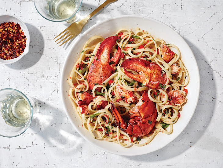 Lobster Linguine with Chiles Recipe