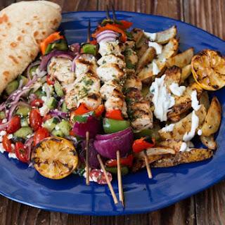 Greek Chicken Souvlaki.